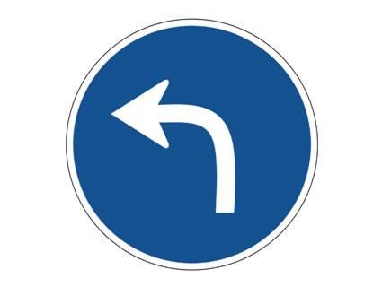 Esta señal ... :: obliga a girar a la izquierda ...